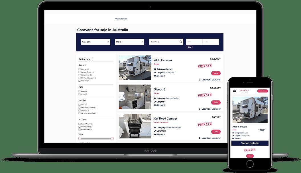 caravansales website